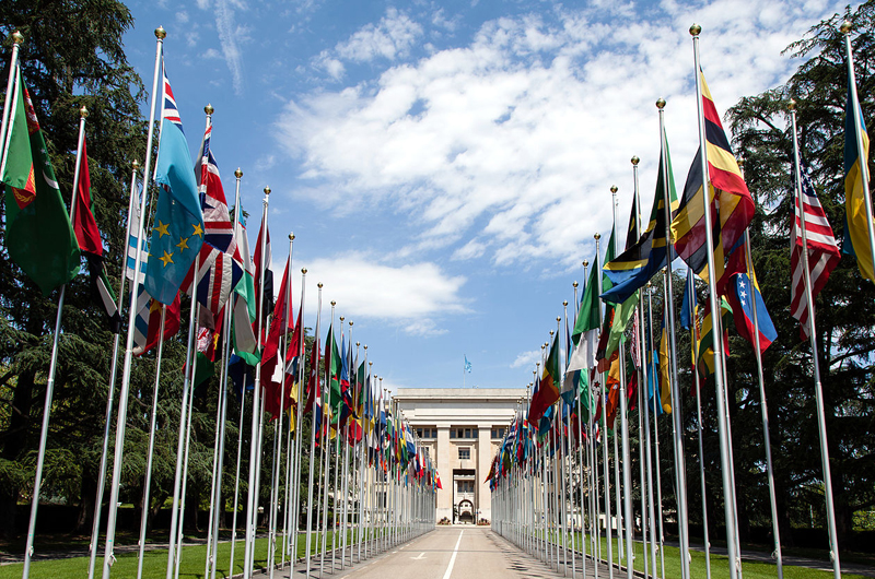 The United Nations Office at Geneva (Switzerland) is the second biggest U.N. center, after the United Nations Headquarters in New York.