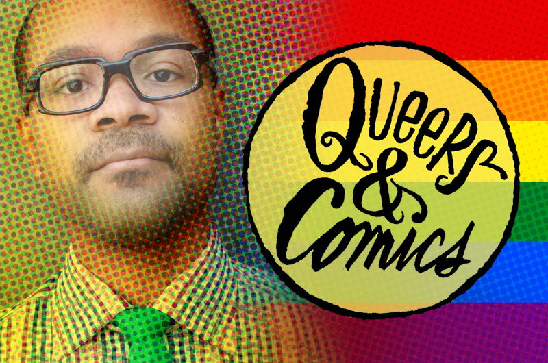 André Carrington, PhD, assistant professor of English at Drexel, helped organize an international conference on LGBT comics and the people who create them. Graphic by Bill Ezell.