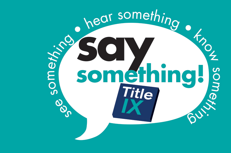 Logo for The Office of Equality and Diversity' Title IX campaign.
