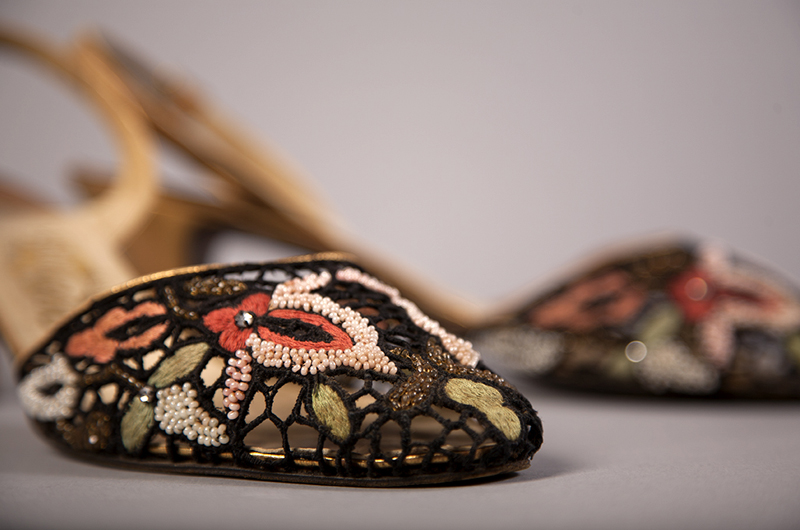 Salvatore Ferragamo Evening Shoes c. 1955, Italian, FHCC Purchase. Photo credit: Michael J. Shepherd.