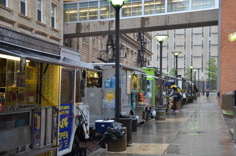 Ludlow Street, which will continue to be one of the areas designated for food trucks on Drexel's campus.