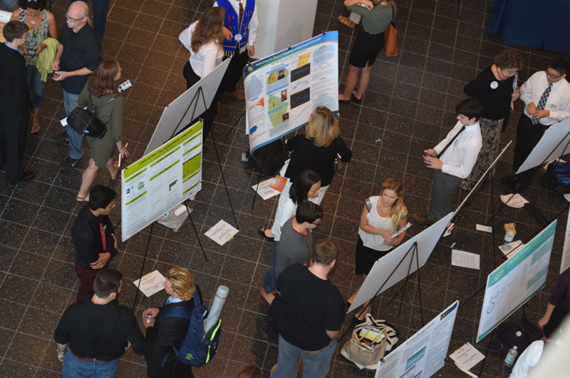 Poster presentations during STAR Scholars Summer Showcase 2015.