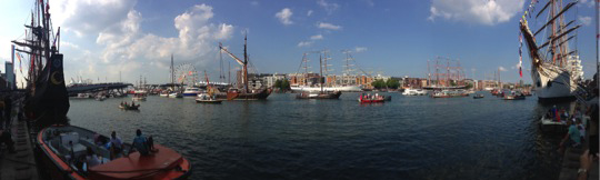 Ships in Amsterdam during the world's largest tall ship festival, SAIL.