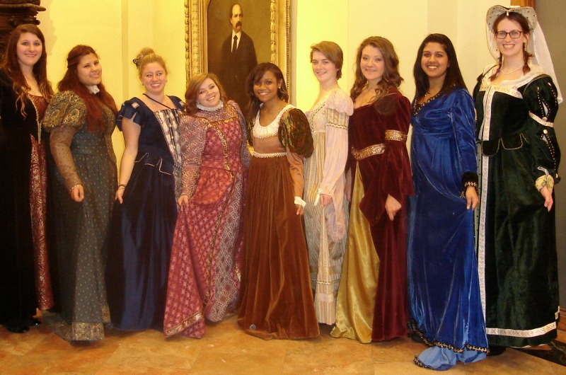 Ladies from the 2014 Madrigal Dinner