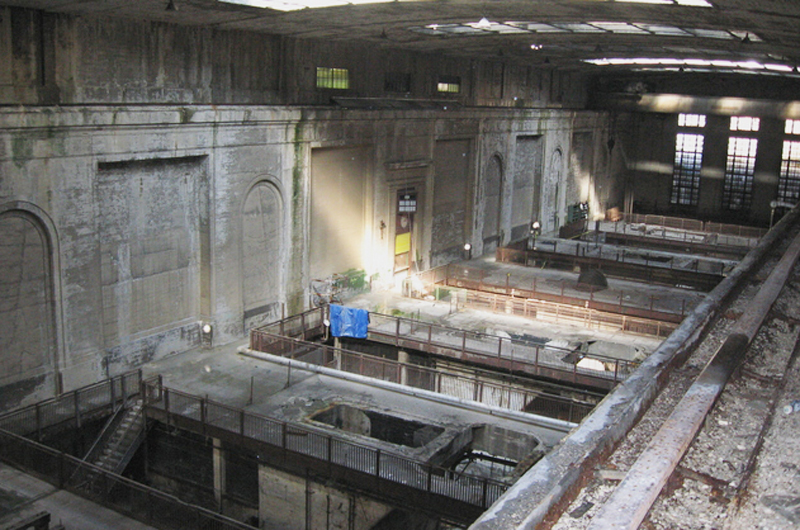 Inside the largely vacant Delaware Power Station. Photo credit: Kim Albright.