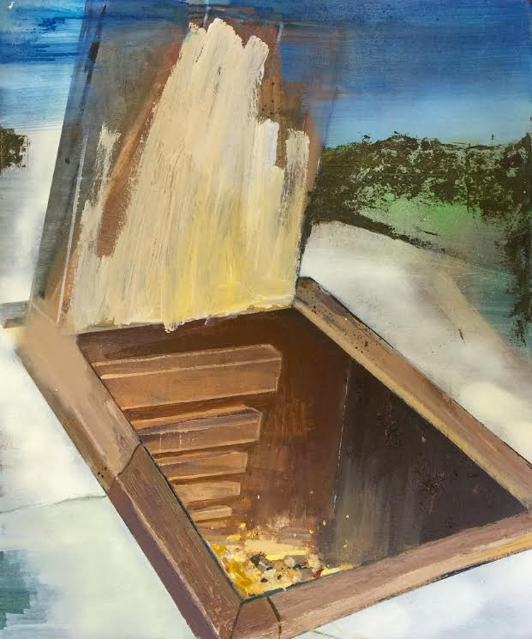 """The Trap Door,"" Jacob Looney, oil on canvas."