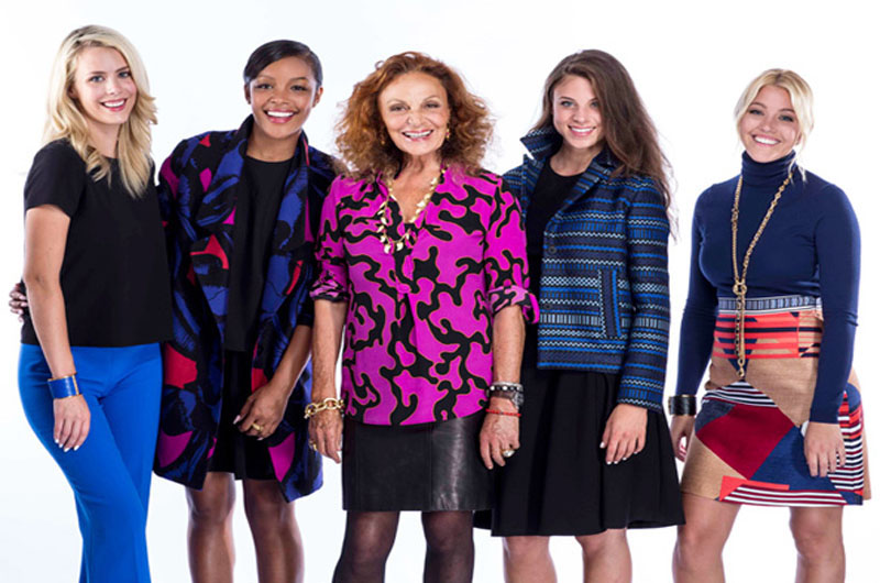 "Amanda Schauer, far right, in a promotional photo for ""House of DVF"" for InStyle Magazine. Photo courtesy Morgan Miller Photography."