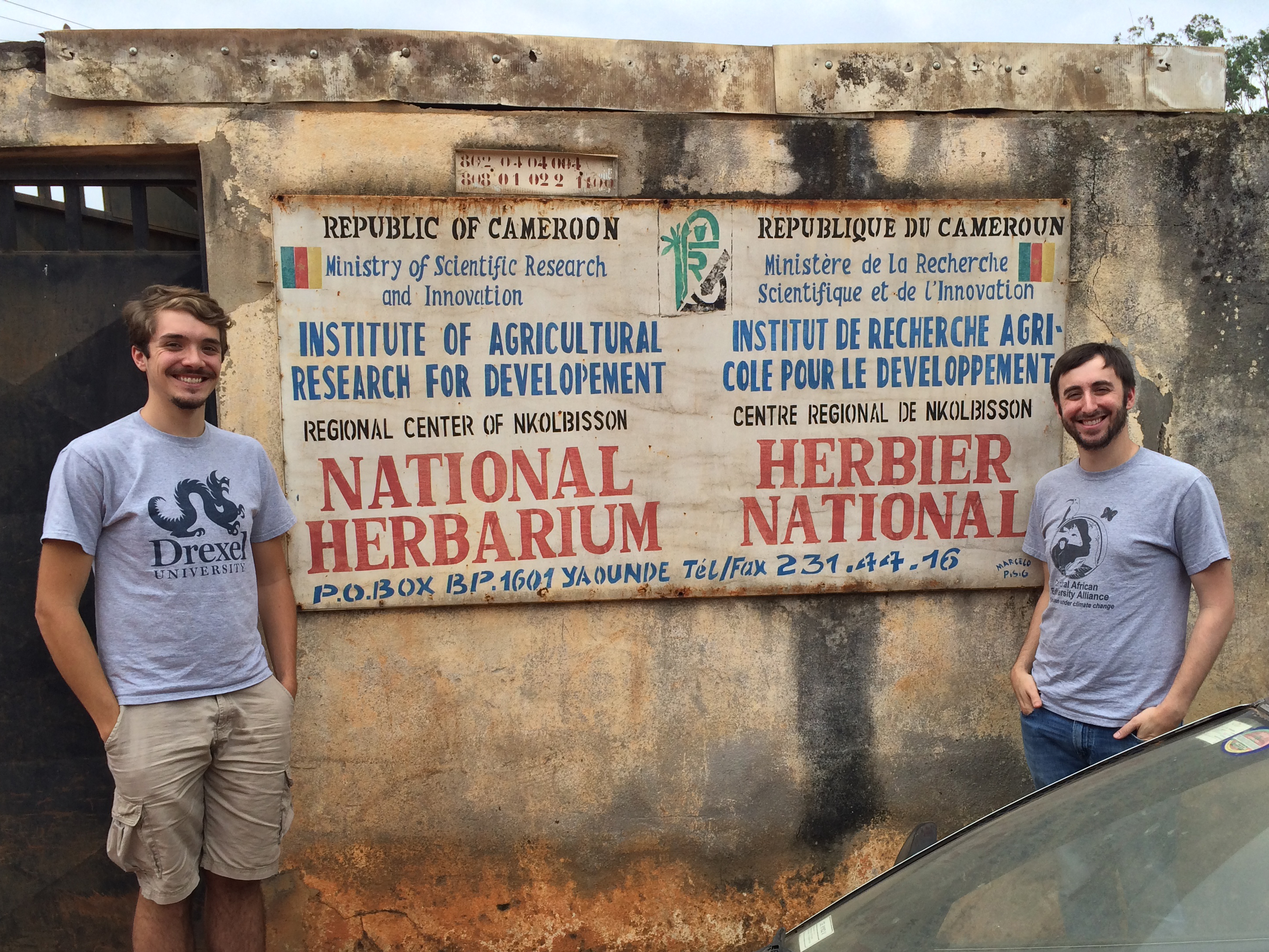 Paul Sesink Clee (left) and Matthew Mitchell (right) in Cameroon