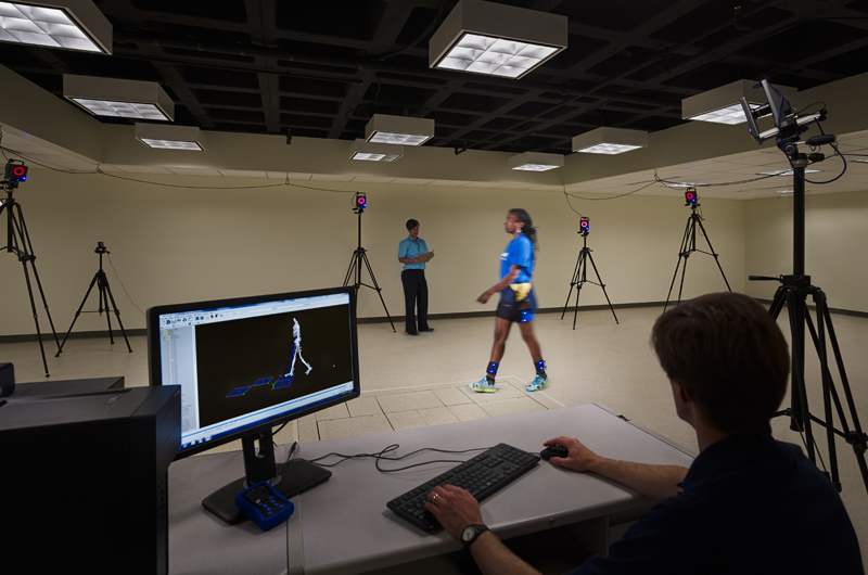 The state-of-the-art gait lab is used for research studies of motion in Drexel's College of Nursing and Health Professions.
