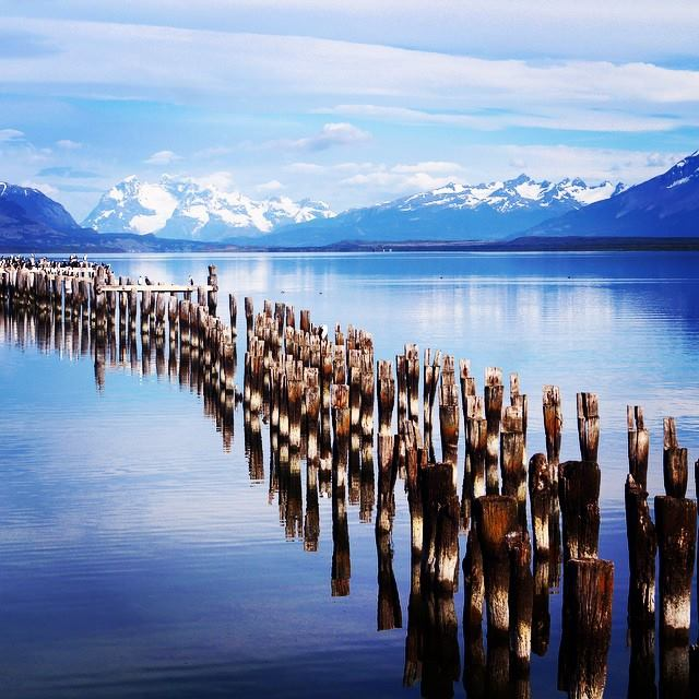 An old pier at Puerto Natales in Chile. Photo by Rebecca Olsho, BA international area studies '17.