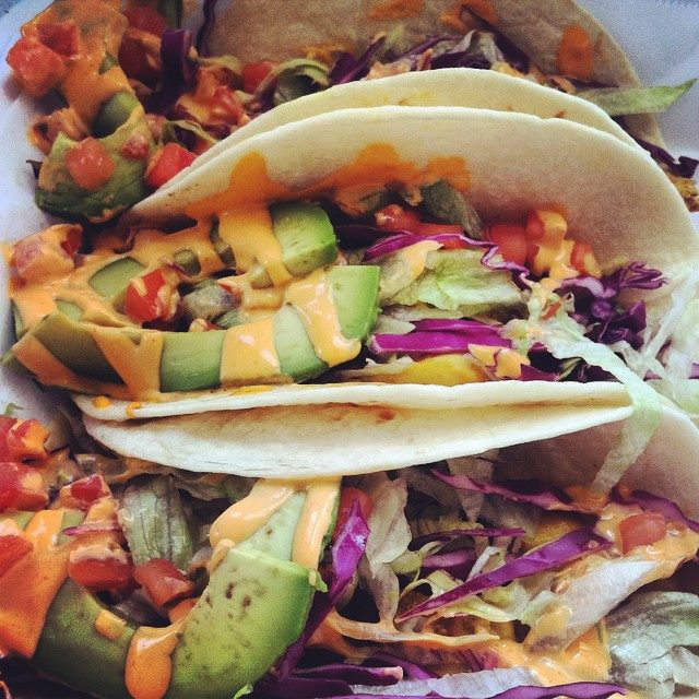 Chicken satay tacos from the Cucina Zapata food truck at Drexel. Photo by Kerri Yandrich, MS environmental policy '16.