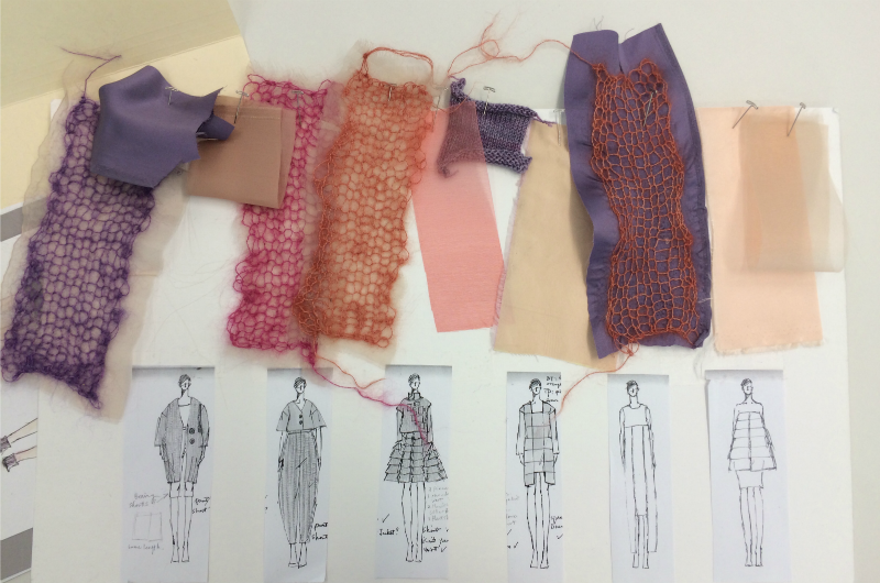 Swatches and designs from Drexel senior Ying Zhang's collection.