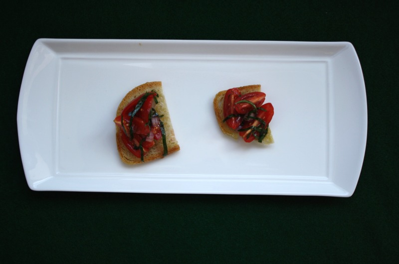 The good bruschetta used in Jacob Lahne's study.
