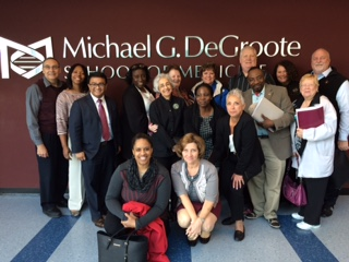 The group of Drexel nursing practice doctoral students who participated in a study abroad program in Canada.