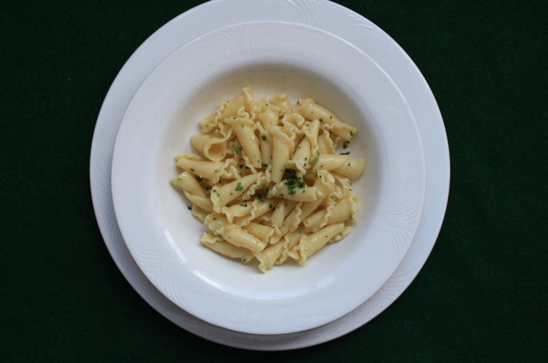 The pasta dish used in Jacob Lahne's study.