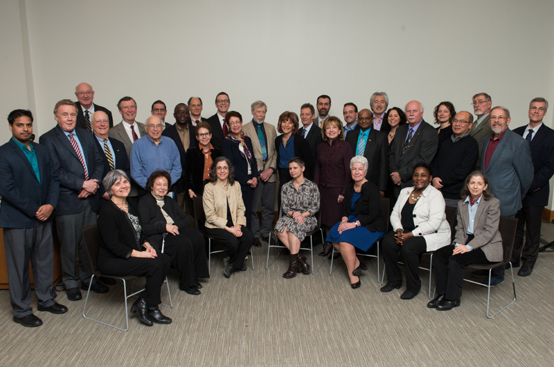 Group photo of the honorees at the third annual Celebrating Drexel Authors event. By Jaci Downs Photography.