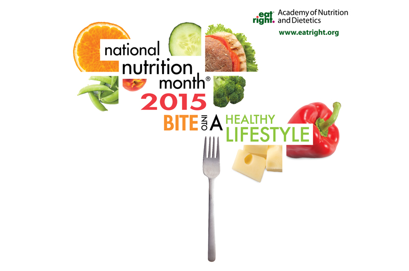 National Nutrition Month 2015 logo.