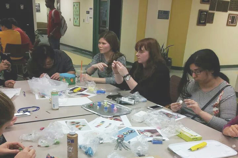 Members of SPARK love to get crafty.