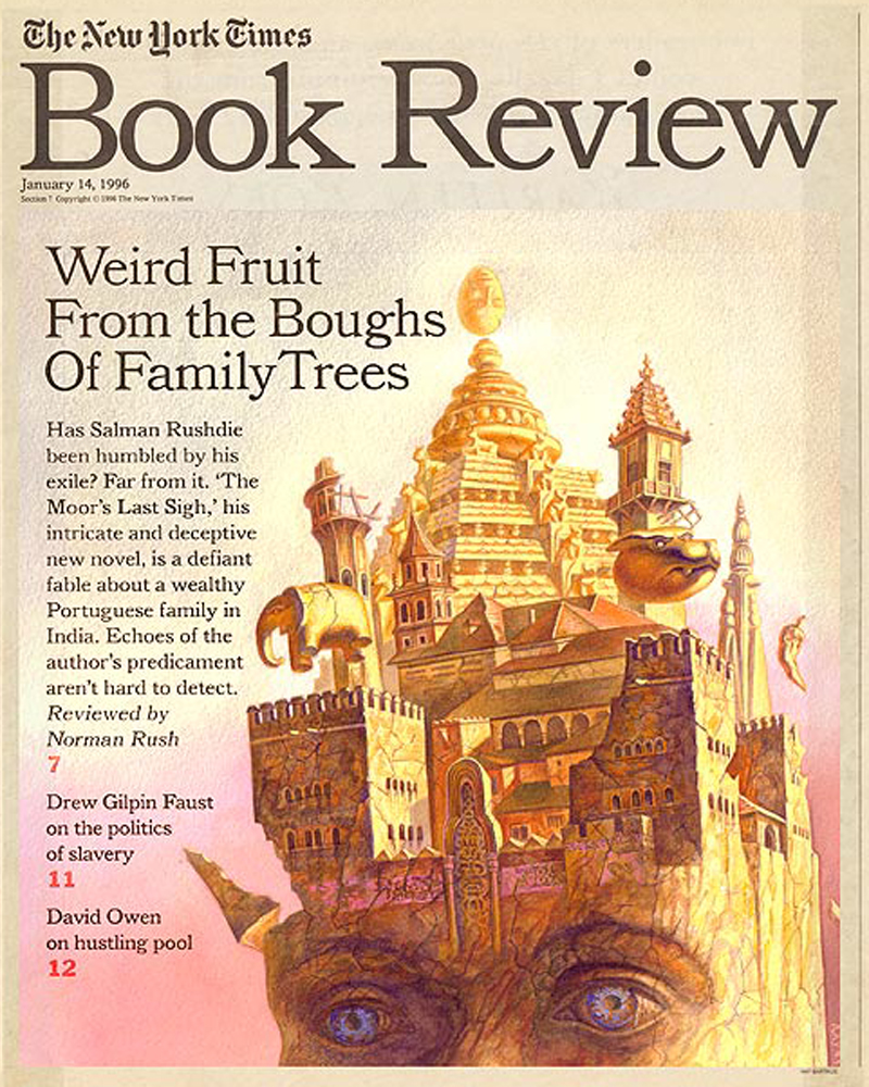 One of Bartkus' cover illustrations for the New York Times Book Review.