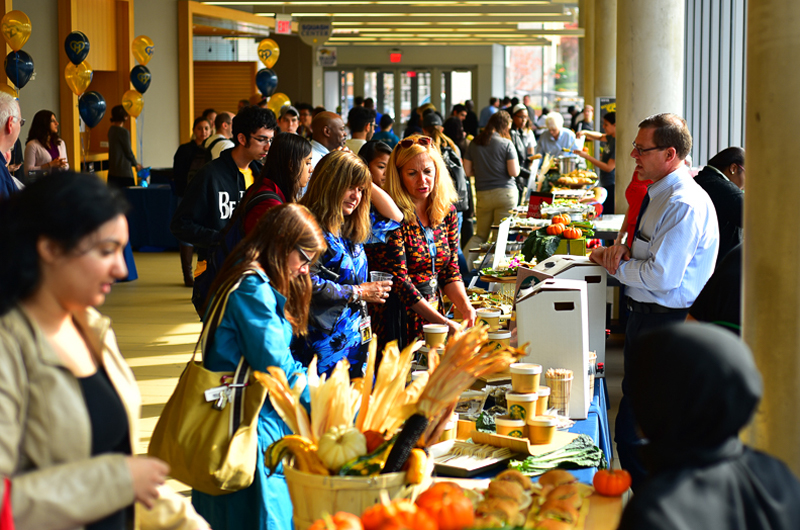 The crowd at Drexel's annual Food Day.