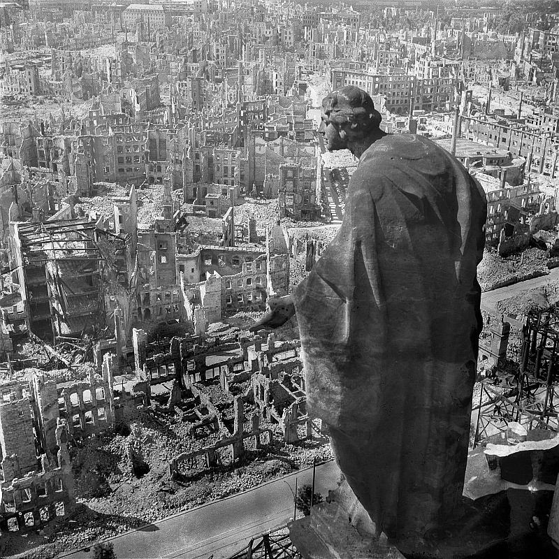 An example of the damage Dresden suffered by the bombings.
