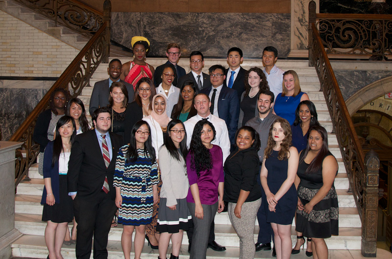 The Liberty Scholars set to finish their degrees this year gathered at Friday's celebration in their honor.