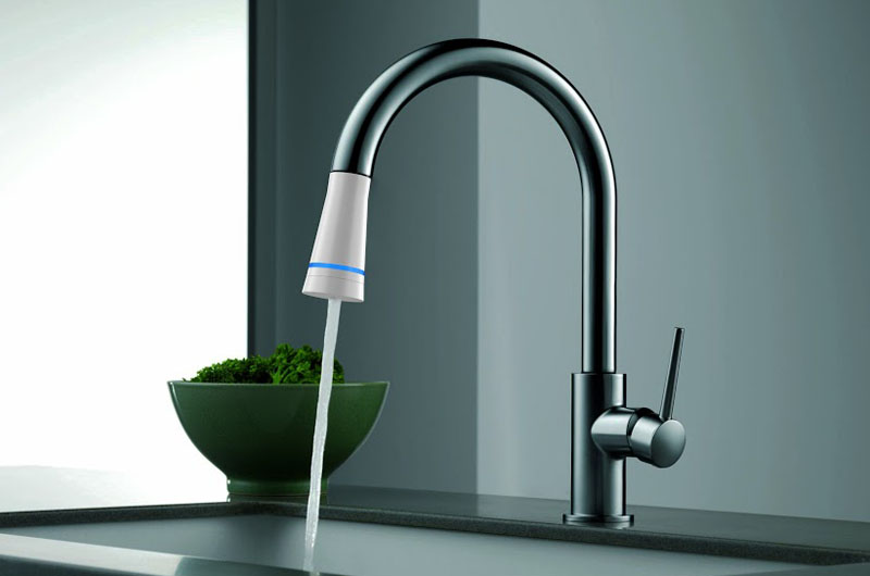 "White and Zerban's ""Smart Faucet"" purifies and conserves water."