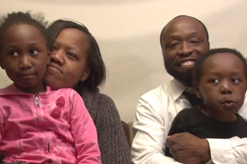 A family with two children is one of those featured in the African-American Autism video series.