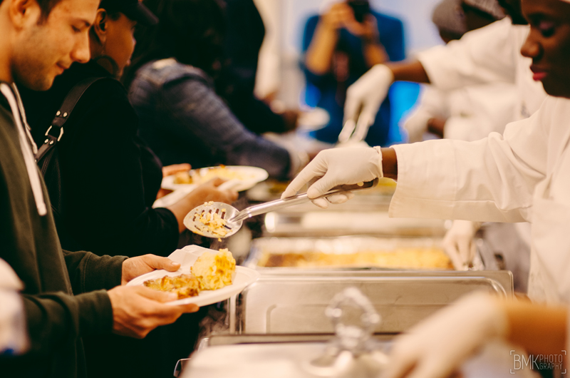 The Dornsife Center hosts free monthly dinners for the comminity. Photo credit Brian Michael Kinney.