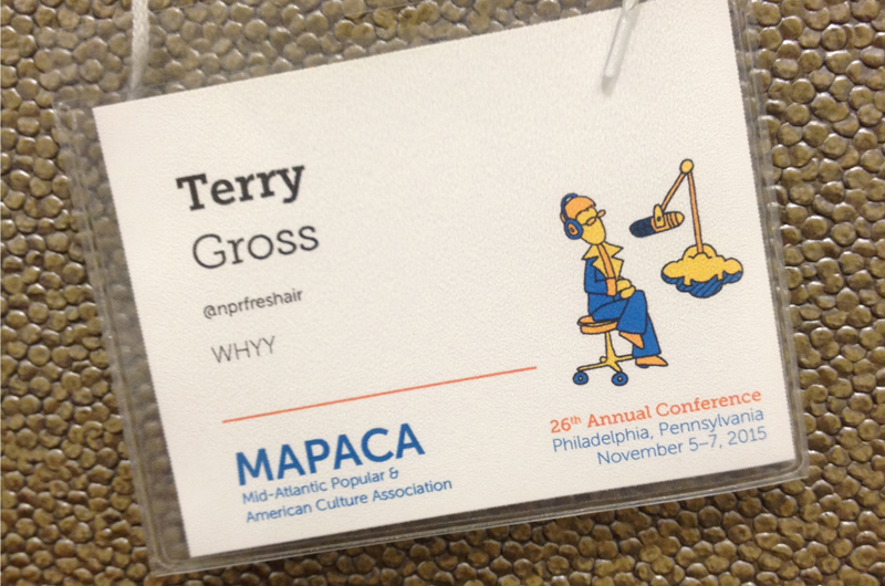 Gross was a guest of honor at the Mid-Atlantic Popular & American Culture Association's (MAPACA) 26th Annual Conference.