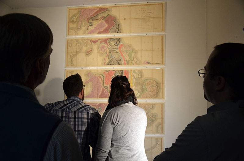 One of the world's earliest geological maps was recently pulled from the Academy Archives and put on display for visitors, but only for a few days as it is quite delicate and rare.