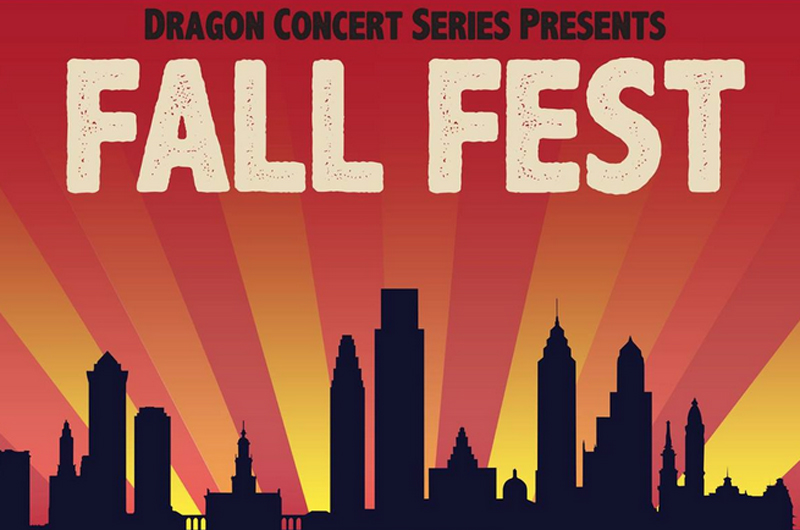Poster for Drexel's Fall Fest 2015, featuring Lil Wayne and Wiz Khalifa.
