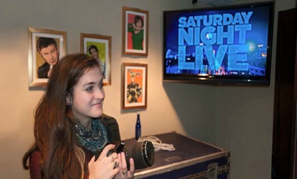 "Sydney Arroyo, a Westphal undergraduate student who completed a co-op at ""Saturday Night Live."""