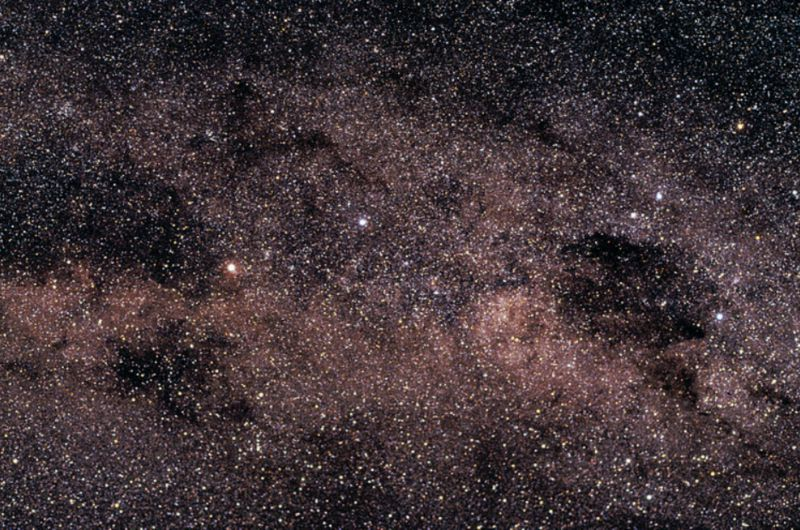 "Alpha Centauri is the bright yellowish star seen at the middle left, one of the ""Pointers"" to the star at the top of the Southern Cross. Photo courtesy Claus Madsen (ESO),"
