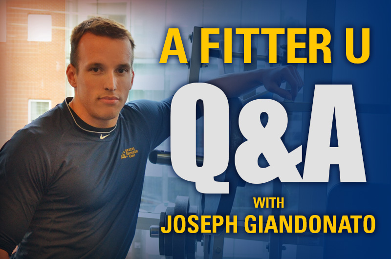 Logo for A Fitter U Q&A with Joseph Giandonato.