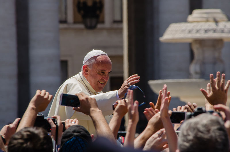 Pope Francis made an evocative call to address the dual problems of environmental degradation and human exploitation. Photo credit: Alfredo Borba.