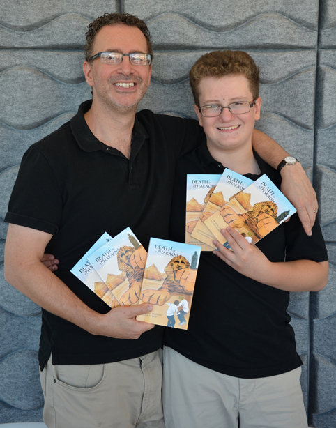 "Kline School of Law Professor Alex Geisinger with his son, Michael Geisinger, author of ""Death of a Pharaoh."""