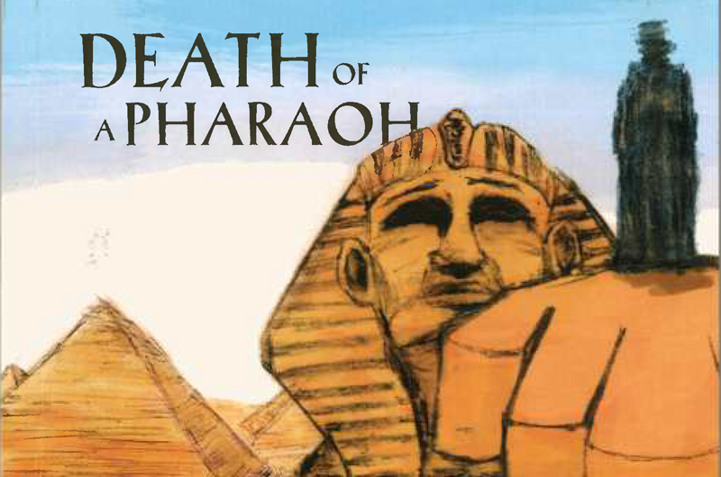 "The cover of ""Death of a Pharaoh."""