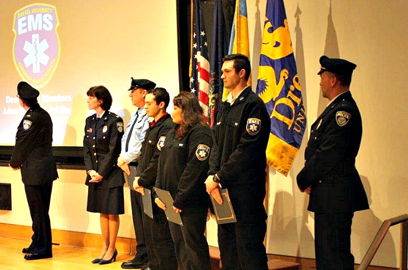 Drexel EMS students received recognition from the National Collegiate Emergency Medical Services Foundation.