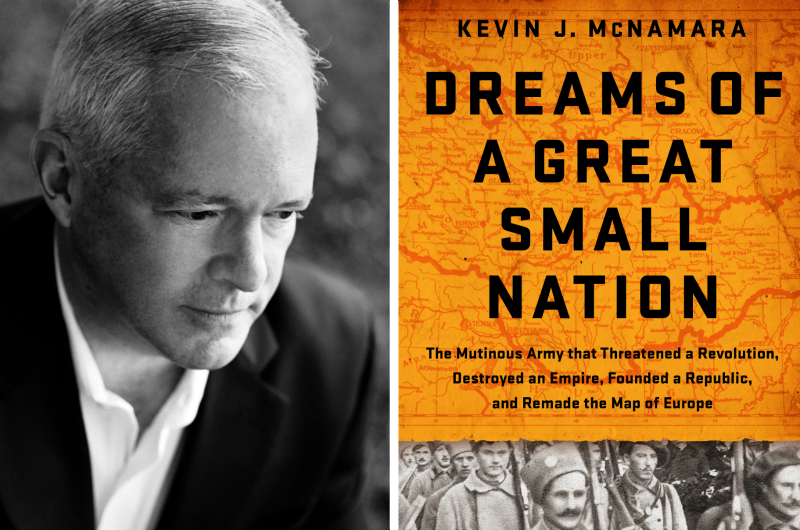 "Kevin McNamara authored ""Dreams of a Great Small Nation."""