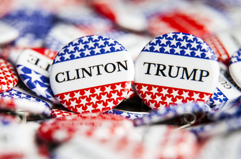 pin for clinton and trump