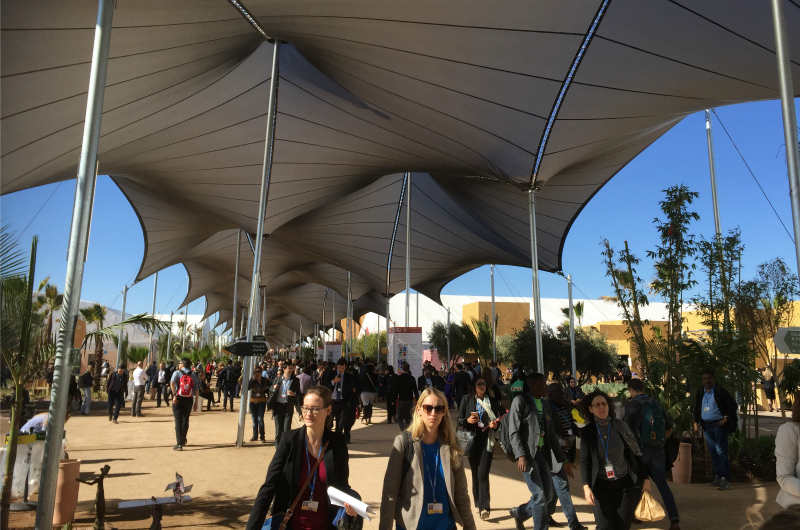 The central corridor at the COP22 conference in Morocco.