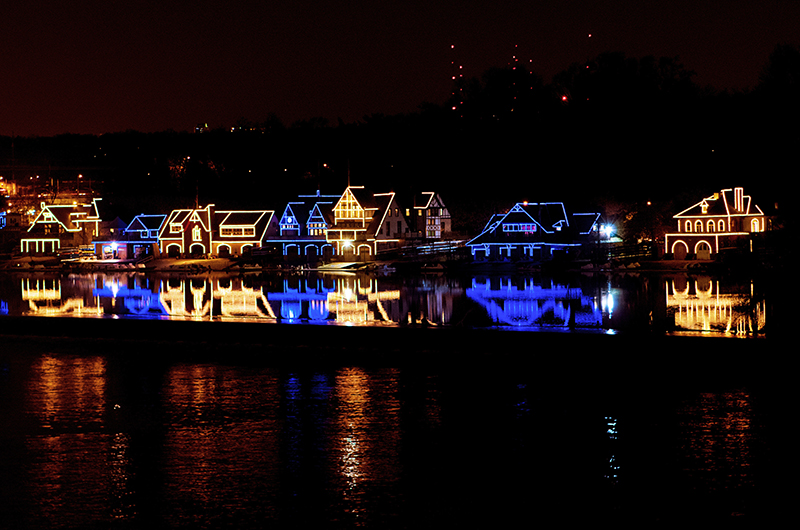 Boathouse Row. Photo credit Jeff Fusco. & Philadelphia Lights Up in Blue and Gold for Drexelu0027s 125th ...