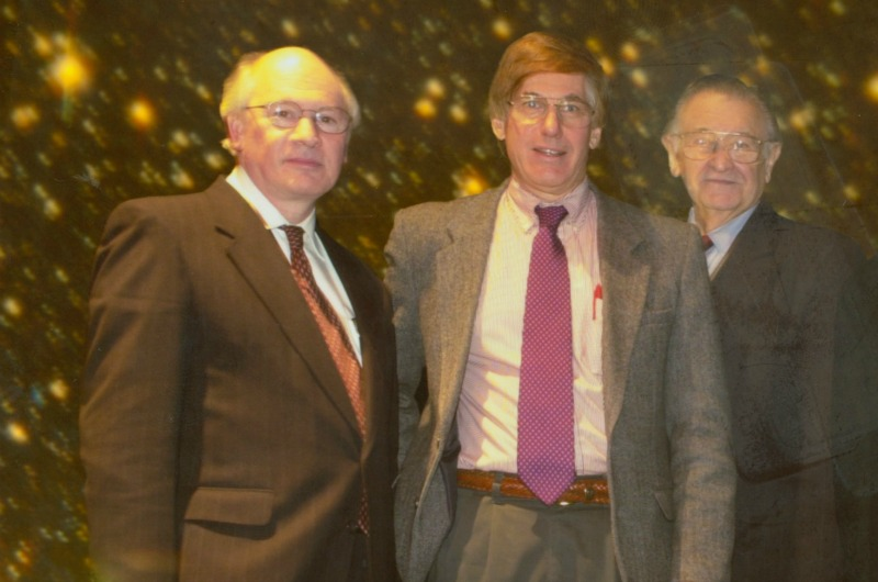 (Left to right): Michel Vallières, 6th Kaczmarczik Lecture speaker J. Anthony Tyson and Paul Kaczmarczik in 2000.