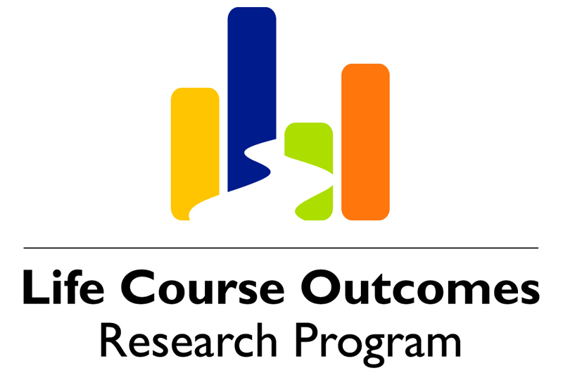 Logo for the Life Course Outcomes program, whose report generated interest for the new Transition Pathways program.