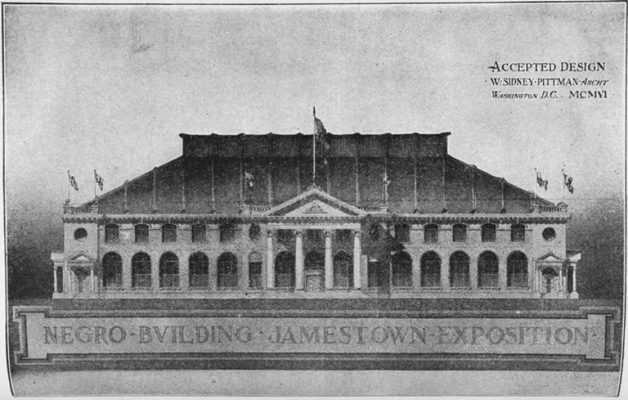 William Sidney Pittman's designs for the Negro Building.