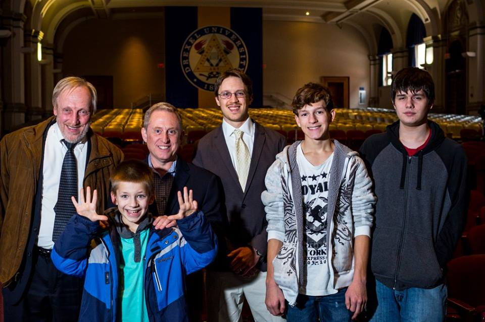 20th Kaczmarczik Lecture speaker S. Alan Stern, second from left, with three generations of the Kaczmarczik family.