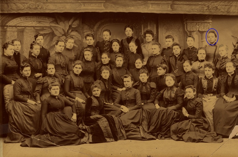WMCP Class of 1891, featuring Halle Tanner Dillon Johnson, MD, the first woman resident physician at the Tuskegee Institute. Photo courtesy Legacy Center Archives, Drexel College of Medicine.