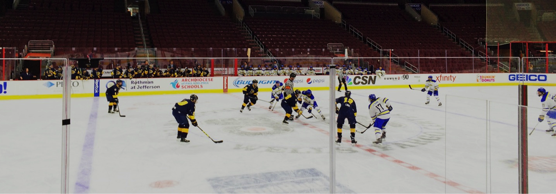 The Drexel Men's Club Ice Hockey team took to the ice of the Wells Fargo Center.