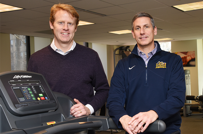 Kevin Gard and Robert Maschi from Drexel's Running Performance and Research Center